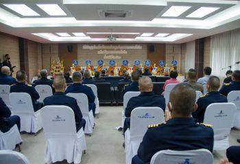 <span>พลอากาศโท สุรสีห์ สิมะเศรษฐ์ ผู้บัญชาการหน่วยบัญชาการอากาศโยธิน เป็นประธานในพิธีทำบุญวันคล้ายวันสถาปนา ศูนย์การทหารอากาศโยธิน หน่วยบัญชาการอากาศโยธิน ครบรอบ 58 ปี ในวันที่ ๒๕ กรกฎาคม 2563</span>