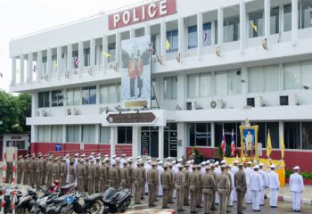 <span>ข้าราชการตำรวจ สถานีตำรวจนครบาลหนองค้างพลู ร่วมกับ กองกำกับการสืบสวนกองบังคับการตำรวจนครบาล 9 จัดพิธีถวายสัตย์ปฏิญาณเพื่อเป็นข้าราชการที่ดีและพลังของแผ่นดิน เนื่องในวันเฉลิมพระชนมพรรษาพระบาทสมเด็จพระวชิรเกล้าเจ้าอยู่หัว ๒๘ กรกฎาคม ๒๕๖๓</span>