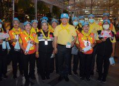 ประธานโครงการคืนคุณแผ่นดิน ให้กำลังใจ อส.จร รณรงค์ประชาชนใส่หน้ากากอนามัยป้องกันความเสี่ยงสุขภาพ